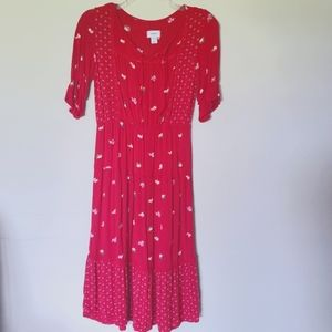 Old Navy Red Floral Maxi Dress